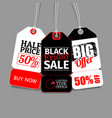 a stiker with different discount names vector image
