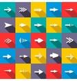 Arrow icon set vector image