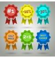 Award Badge with Ribbon Icons vector image