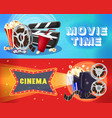 bright cinema horizontal banners vector image
