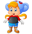 girl with animal costume vector image
