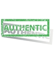 Green outlined AUTHENTIC stamp vector image
