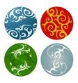 Nature elements badges vector image