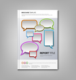 Brochures book or flyer with colorful abstract vector image