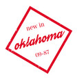 new in oklahoma rubber stamp vector image