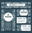 blue floral arabic pattern corporate identity vector image vector image