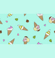 ice cream cones vector image
