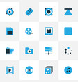 music colorful icons set collection of datacenter vector image