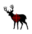 Red deer crosshair vector image