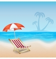 Tropical sea and beach vector image