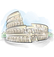 watercolor colosseum vector image vector image