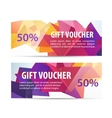 set of colorful faceted gift vouchers vector image