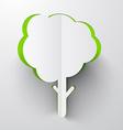 Paper Cut Tree vector image