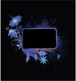 popart floral frame vector image