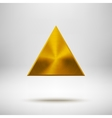 Gold Abstract Triangle Button Template vector image