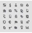 Sticker icons for business vector image