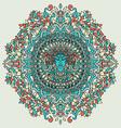 abstract mandala ornament asian pattern vector image