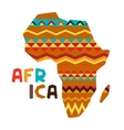 African ethnic background with of ornate map vector image