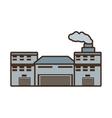 cartoon building industry factory chimney front vector image
