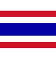 Flag of the Thailand vector image