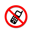 No phone sign on a white background vector image