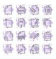 paper icons document icons set of the icons with vector image