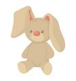 plush toy bunny icon cartoon style vector image