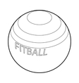 Fitball for fitness icon outline style vector image vector image