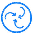 whirl arrows rounded grainy icon vector image