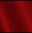 red metal background with round holes vector image