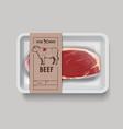 beef vector image