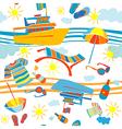 summer vacation pattern vector image vector image