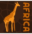 African ethnic background with of giraffe vector image