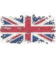 British grunge tile flag vector image vector image