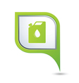 oil canister GREEN pointer vector image vector image