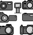 digital cameras vector image vector image