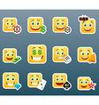 Casino smile stickers set vector image vector image