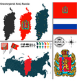 Map of Krai of Krasnoyarsk vector image