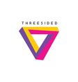 square theme logotype vector image
