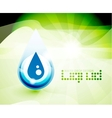 Natural water drop concept vector image vector image