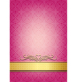 Abstract pink invitation vector image