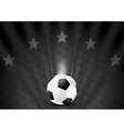 Black abstract soccer football background with vector image