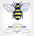 Cartoon honeybee vector image