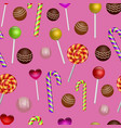 colorful seamless pattern with candy vector image