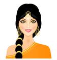 eastern woman in orange vector image