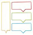 empty dialogue frame sticker vector image
