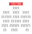 genealogical tree blank family history vector image