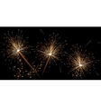 Seamless black festive pattern with sparklers vector image