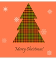 Card with a Scottish tree vector image