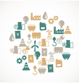 Energy and industry icons vector image
